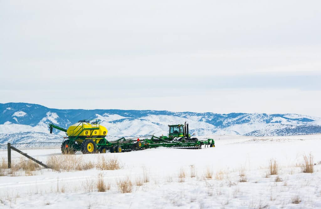 farm equipment appraisal - in snow